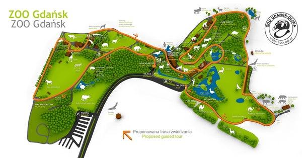 Карта зоопарка Гданьска